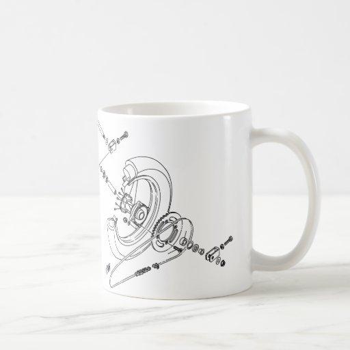 Moto Wheel Mug