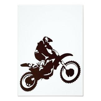 Motocross 13 Cm X 18 Cm Invitation Card