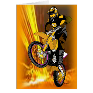Motocross 404 greeting card
