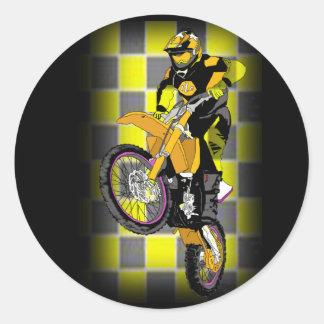 Motocross 407 classic round sticker
