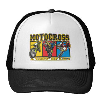 Motocross A Way of Life Mesh Hats