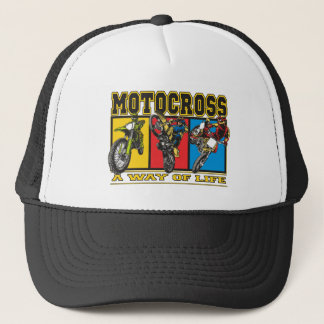 Motocross A Way of Life Trucker Hat
