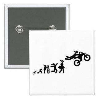Motocross 15 Cm Square Badge