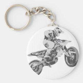 Motocross Basic Round Button Key Ring