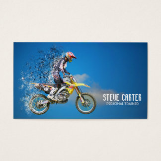 Motocross Bike Professional Personal Trainer Business Card