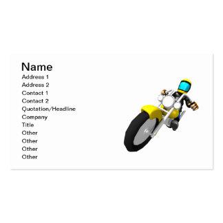 Motocross Biker Business Card Template