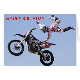 Motocross Birthday Card