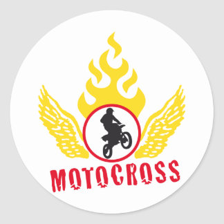 motocross classic round sticker
