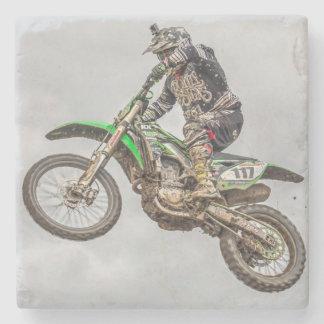Motocross coaster stone coaster