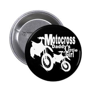 Motocross Daddy's Girl 6 Cm Round Badge