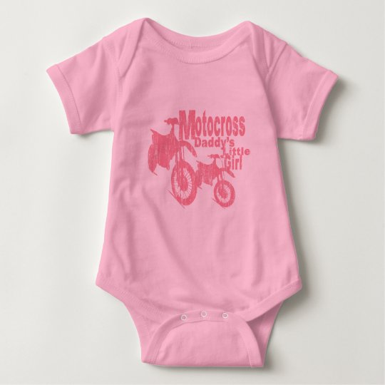 Motocross Daddy's Girl Baby Bodysuit