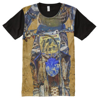 Motocross Dirt-Racing Close-up Shirt All-Over Print T-Shirt