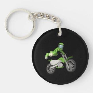 Motocross Double-Sided Round Acrylic Key Ring