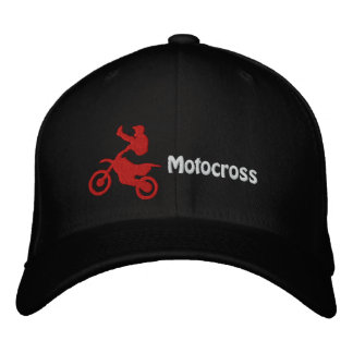Motocross Embroidered Cap Embroidered Hats