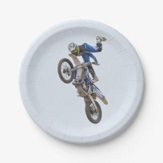 Motocross Extreme Tricks Paper Plate