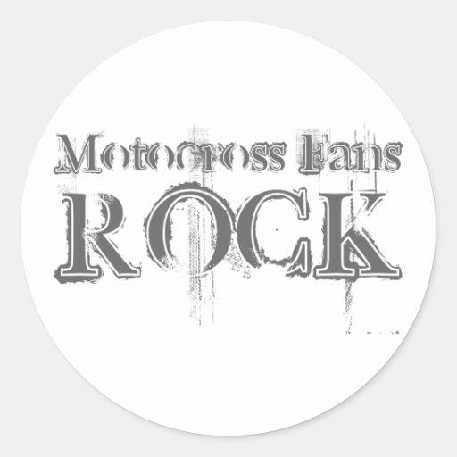 Motocross Fans Rock Round Sticker