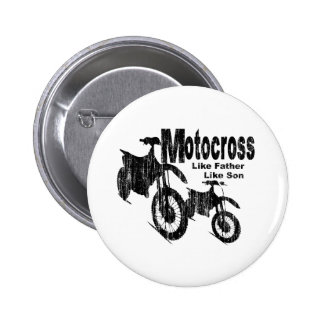 Motocross Father/Son 6 Cm Round Badge