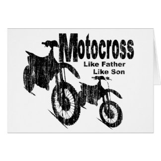 Motocross Father/Son Card