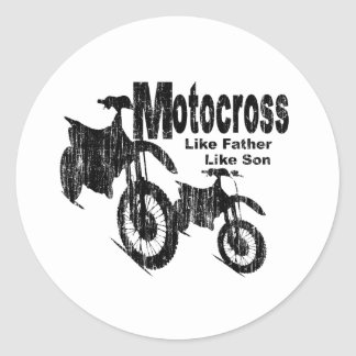 Motocross Father/Son Round Sticker