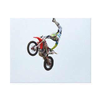 Motocross Freestyle Gallery Wrapped Canvas