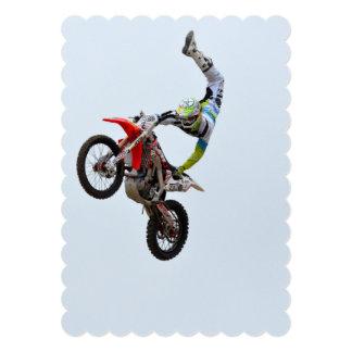 Motocross Freestyle 13 Cm X 18 Cm Invitation Card
