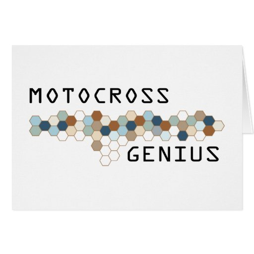 Motocross Genius Greeting Card