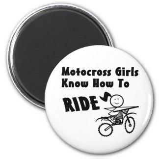 Motocross Girls 6 Cm Round Magnet
