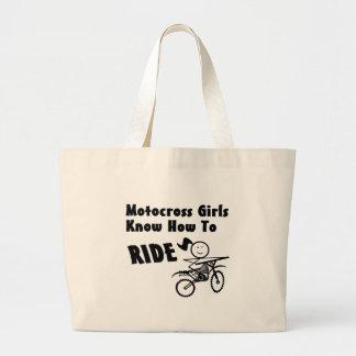 Motocross Girls Large Tote Bag