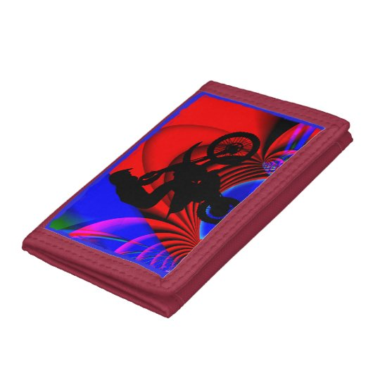 Motocross Going Loopy Trifold Wallets