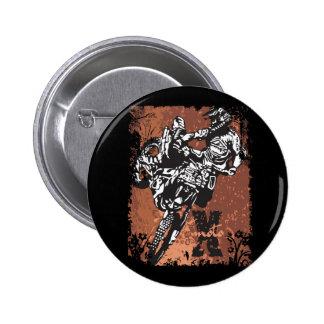 Motocross Grunge 6 Cm Round Badge