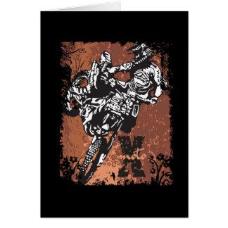 Motocross Grunge Greeting Card