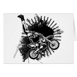 Motocross Grunge Jump Greeting Cards