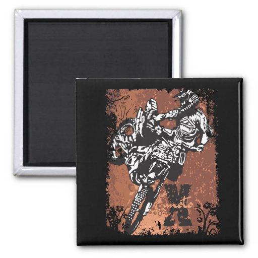 Motocross Grunge Magnet