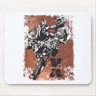 Motocross Grunge Mouse Pads