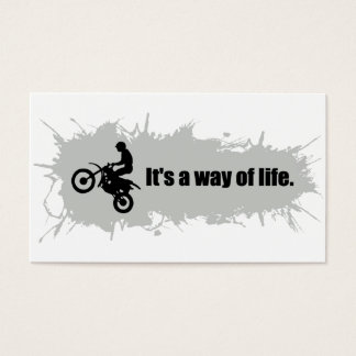 Motocross is a Way of Life Business Card