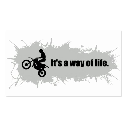 Motocross is a Way of Life Business Card Template