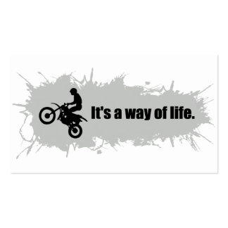 Motocross is a Way of Life Pack Of Standard Business Cards