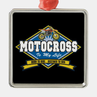Motocross is My Life Christmas Ornament