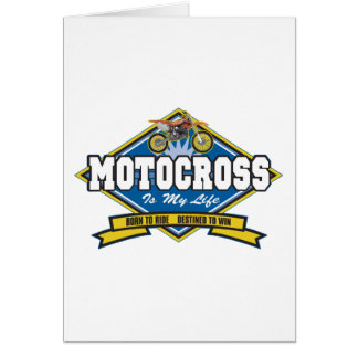 Motocross is My Life Greeting Card