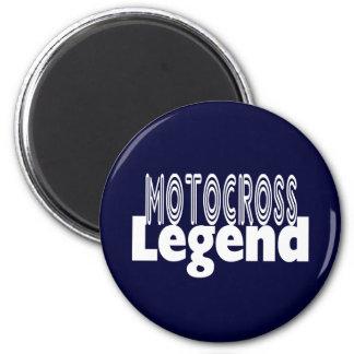 Motocross Legend 6 Cm Round Magnet