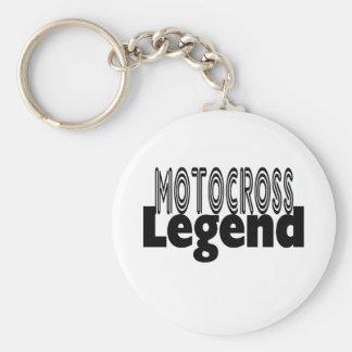 Motocross Legend Basic Round Button Key Ring
