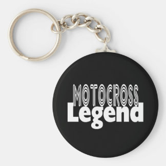 Motocross Legend Basic Round Button Key Ring
