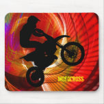 Motocross Light Streaks in a Windtunnel Mousemat