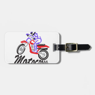 Motocross Luggage Tag