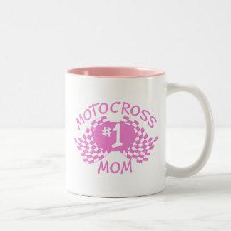 Motocross Mom Two-Tone Coffee Mug