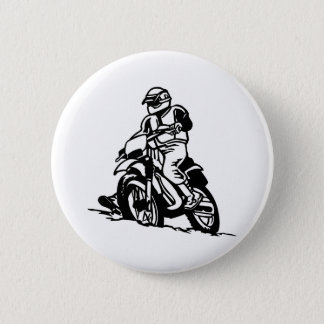 Motocross Motorcycle 6 Cm Round Badge