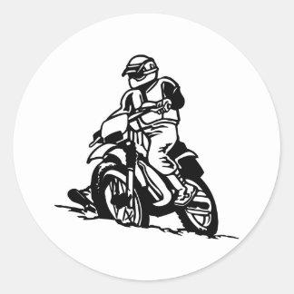 Motocross Motorcycle Classic Round Sticker