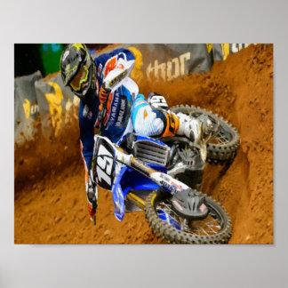 Motocross Racing Poster