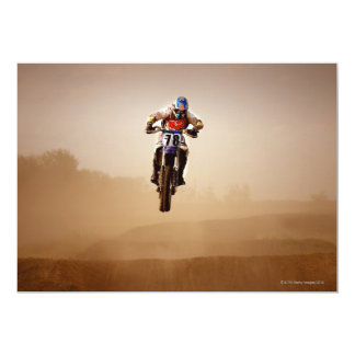 Motocross Rider 13 Cm X 18 Cm Invitation Card