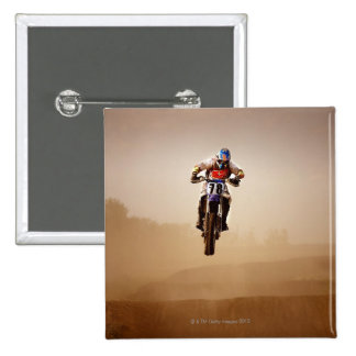Motocross Rider 15 Cm Square Badge